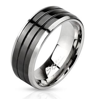 Ocelový prsten pro muže 3103