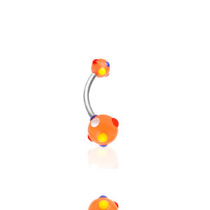 Piercing pupíku 1622-ORANGE
