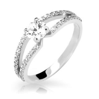 Zásnubní prstýnek stříbro 2358