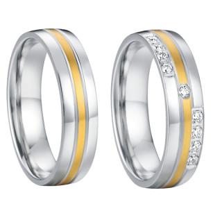Ocelové snubní prsteny SPPL013