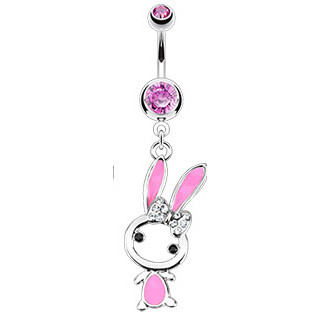 Piercing pupiku 12431 - Pink