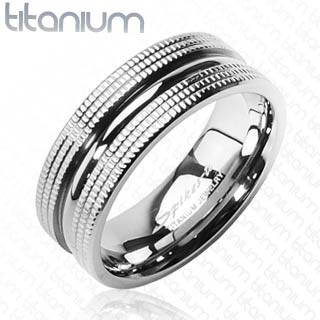 Titanový prsten Spikes 3601