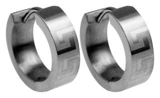 Náušnice kroužky chirurgická ocel SEE010