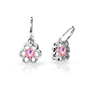 Dětské náušnice Cutie Jewellery C1947B Pink -Bílé zlato 585/000