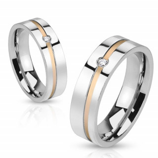 Snubní ocelový prsten Spikes 1011