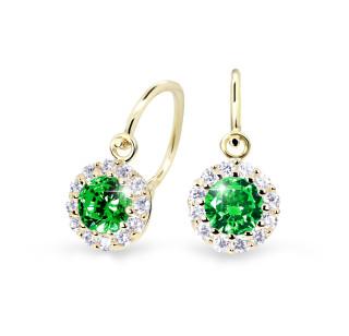 Zlaté dětské náušnice Cutie Jewellery C2745Z-Green