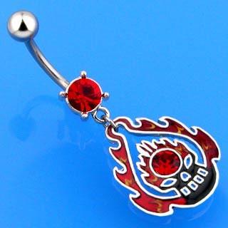 Ocelový piercing do břicha 3618