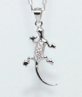 Přívěsek na krk stříbrný ještěrka 305329