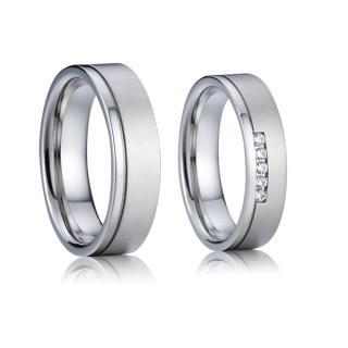 Ocelové snubní prsteny SPPL014