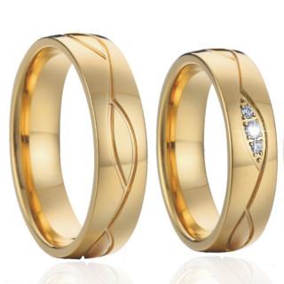 Ocelové snubní prsteny SPPL022