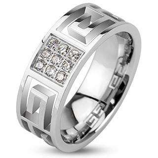 Ocelový prsten Spikes 2146
