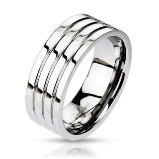 Ocelový prsten Spikes 0024