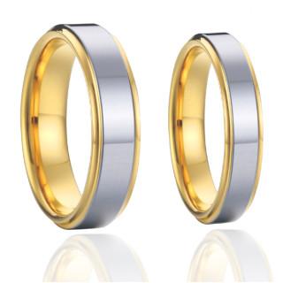 Ocelové snubní prsteny SPPL011