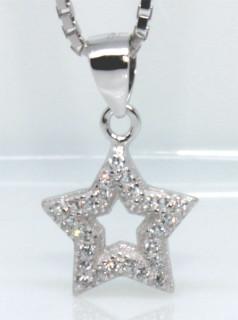 Přívěsek stříbrná hvězdička 306296