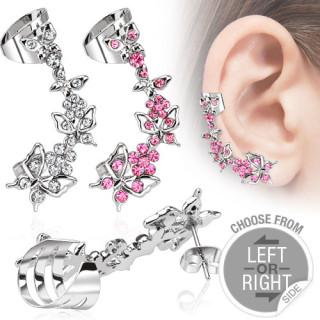 Velká náušnice přes celé ucho 13287-Pink
