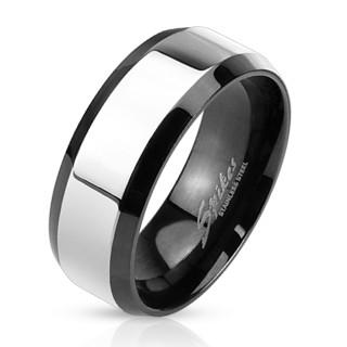 Ocelový prsten pro muže 3109