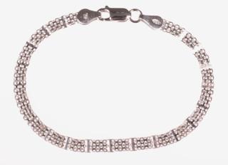 Dámský náramek stříbrný 301035