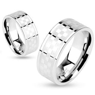 Ocelové snubní prsteny Spikes 10172