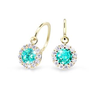 Zlaté dětské náušnice Cutie Jewellery C2745Z-Mint Green