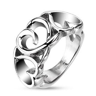 Ocelový prsten Spikes 4386
