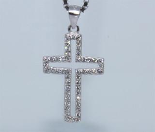 Stříbrný křížek na krk 304305