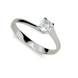 Prsten se zirkonem stříbro 1957