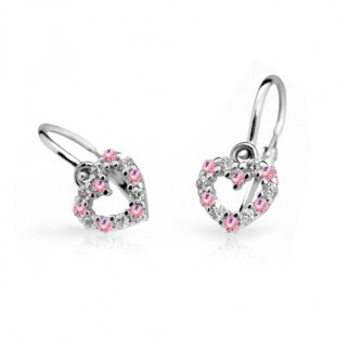 Zlaté náušnice pro miminko Cutie Jewellery C2157B-pink