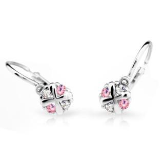 Dětské náušnice Cutie Jewellery C2153B Pink -Bílé zlato 585/000