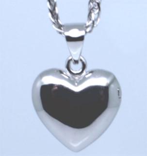 Medailon srdce stříbro 307008