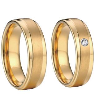 Ocelové snubní prsteny SPPL007